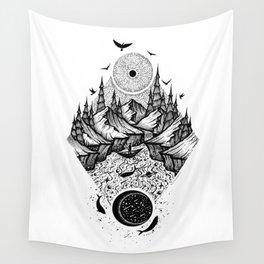Sun vs Moon Wall Tapestry