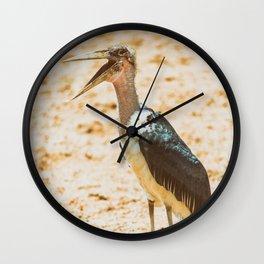 Marabou Stork Bird In Africa Wall Clock