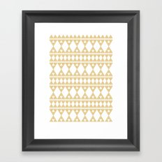 Golden Lace Framed Art Print