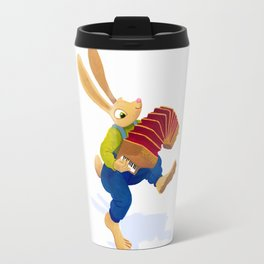 Rabbit with an accordion Travel Mug