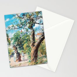 Victorian Family out for a Walk by Carl Larsson Stationery Cards