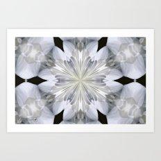 White Arctic Queen Kaleidoscope Art Print