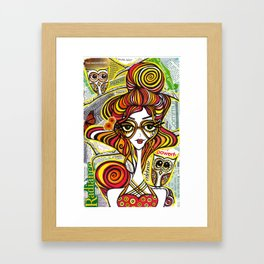 Positive Art and Girls with Owls Art Decor Collection: Rebecca Framed Art Print
