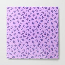 Arcade in Purple Metal Print