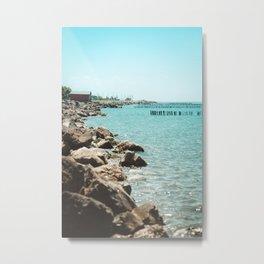Landscape photo - sea coast Metal Print