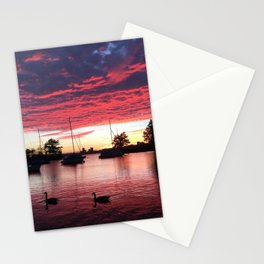 Charles River Sunset Stationery Cards