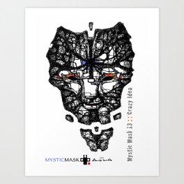 Mystic Mask 13 Art Print