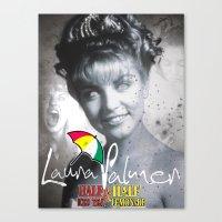 laura palmer Canvas Prints featuring Laura Palmer Half & Half by Adam Hunter