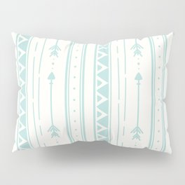 Blush blue white geometric bohemian arrows pattern Pillow Sham