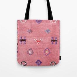 Pink Oriental Traditional Boho Moroccan Style Design Artwork Tote Bag
