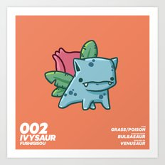 002 Ivysaur Art Print
