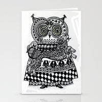celtic Stationery Cards featuring Celtic owl by oxana zaika