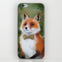 mr fox iPhone & iPod Skins featuring Mr. Fox by Marie-Ève Cardinal