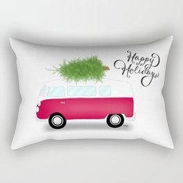 Van Full Of Holiday Cheer Rectangular Pillow