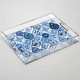 Arabesque tile art Acrylic Tray