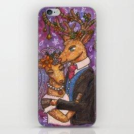 Deer Wedding Bride Groom Couple iPhone Skin