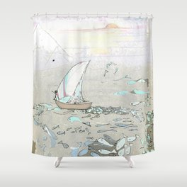 North by North Shower Curtain