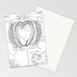 Avian Respiratory System, B&W Stationery Cards