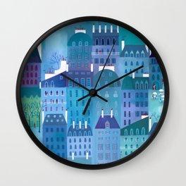 Paris Blues Painting Wall Clock