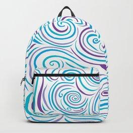 Blue & Purple Swirl Explosion Backpack