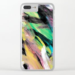 Abstract Artwork Colourful #1 Clear iPhone Case