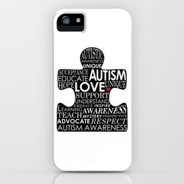 Autism Awareness Love iPhone Case
