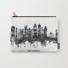 Mumbai India Skyline BW Carry-All Pouch