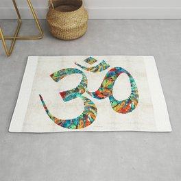 Colorful Om Symbol - Sharon Cummings Rug