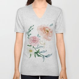 Rose Arrangement No. 1 Unisex V-Neck