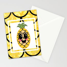Perky Pineapple Stationery Cards