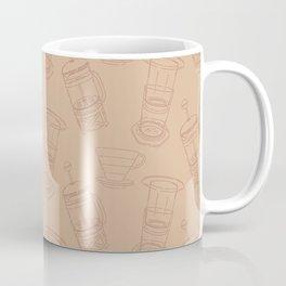 Coffee Brewing Pattern - Neutral Coffee Mug