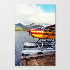 Docked Seaplane Canvas Print