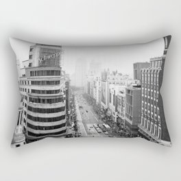 Gran Via in Madrid Rectangular Pillow