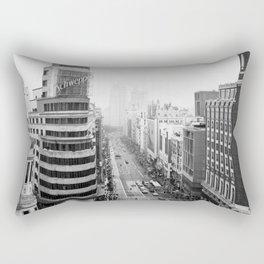 Gran Via in Madrid Rectangular Pillow