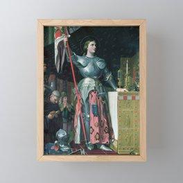 Jean  Auguste Dominique Ingres - Joan Of Arc (1412 - 1431) Framed Mini Art Print