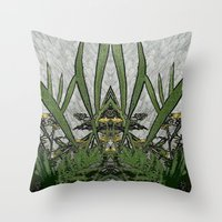 plants Throw Pillows featuring Plants by Gun Alfsdotter