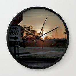 Stop Light Wall Clock