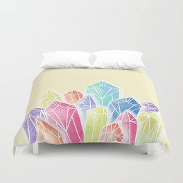 Crystals Yellow Duvet Cover