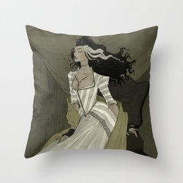 A Bride for the Monster Throw Pillow