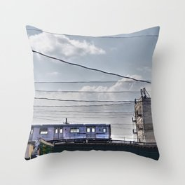 No 2 Subway Train, Passing by the South Bronx, NYC  Throw Pillow