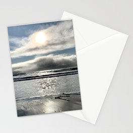 Northern California sun & clouds from the beach Stationery Cards