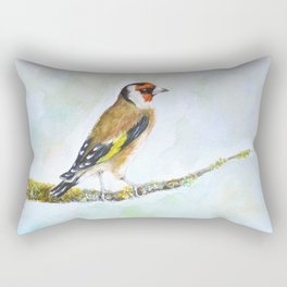 European goldfinch on tree branch Rectangular Pillow