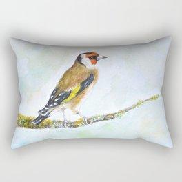European goldfinch on tree branch Rectangular Pillow