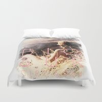 big sur Duvet Covers featuring BIG SUR by TOO MANY GRAPHIX