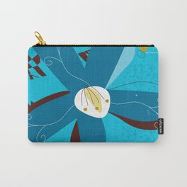 Blue Saucer Magnolia Carry-All Pouch