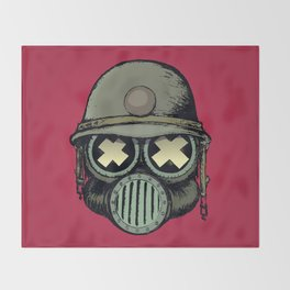War Skull v2 Throw Blanket