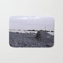 STONE BEACH on the Baltic Sea Bath Mat
