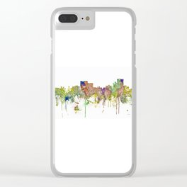 Chatanooga, Tennessee Skyline SG - Faded Glory Clear iPhone Case