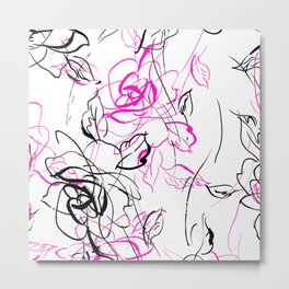 Stylized flowers Metal Print