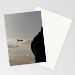 the plane Stationery Cards